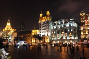 PRC Shanghai 13 Bund by night 1a