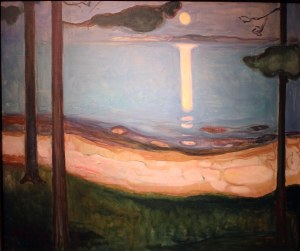 NOR Oslo 15 Artworks Edvard Munch Moonlightpsd