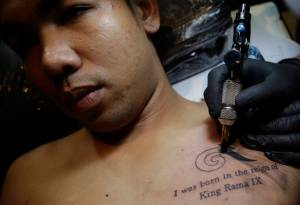 Thailand King Tattoos