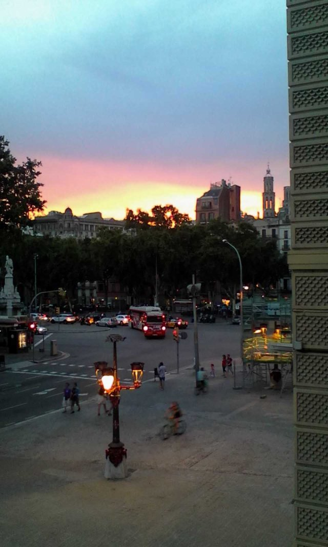 ESP Barcelona sunset