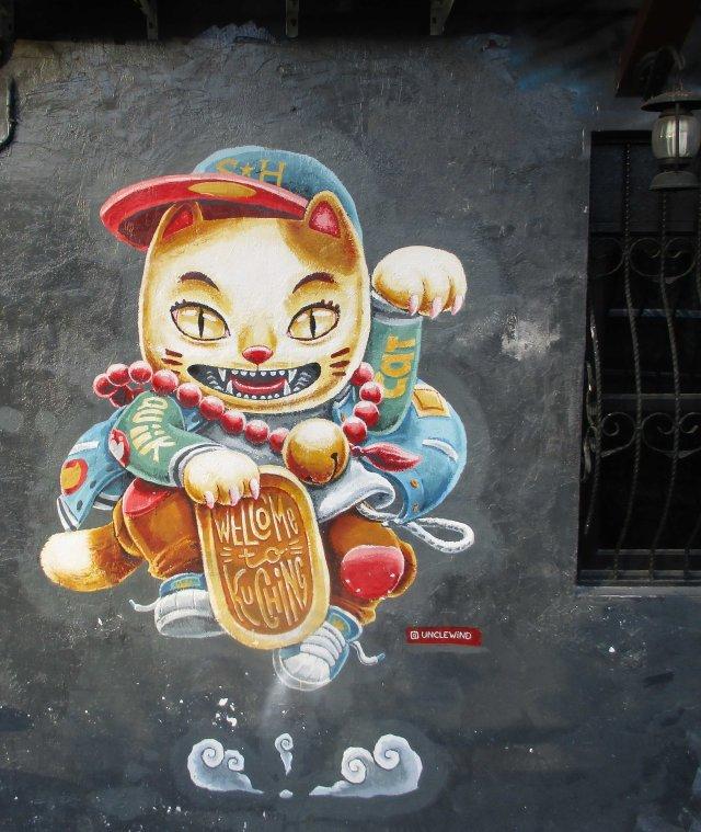 MAL Kuching Street art 3