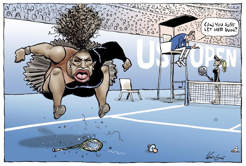 Serena Williams US OPen cartoon
