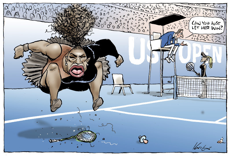 Serena Williams US OPen cartoon